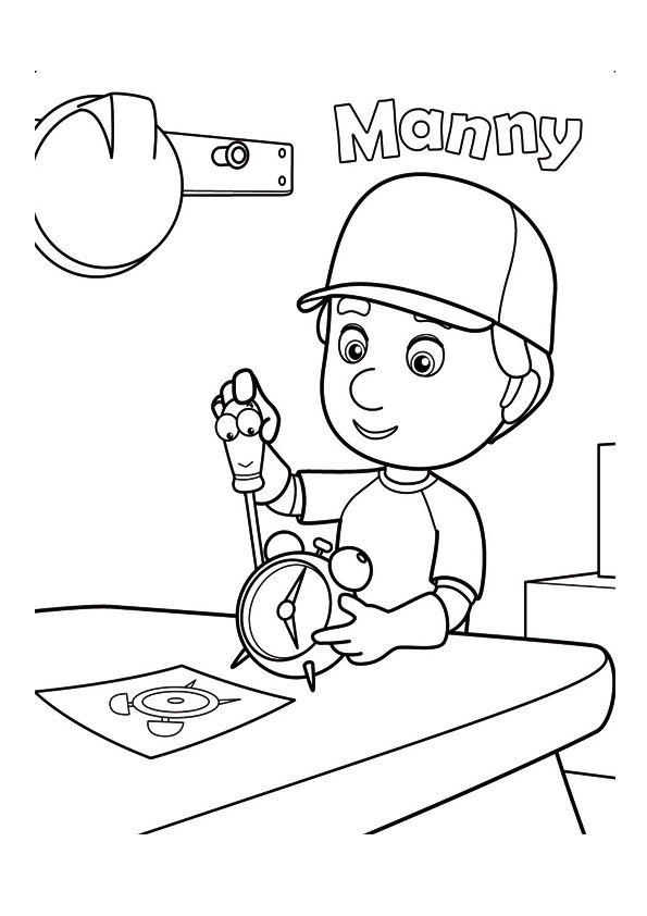 The manny? s tool box coloring pages