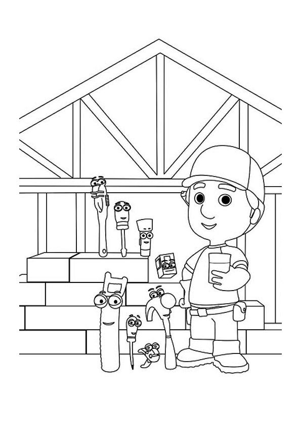 The manny fixes the clock coloring pages