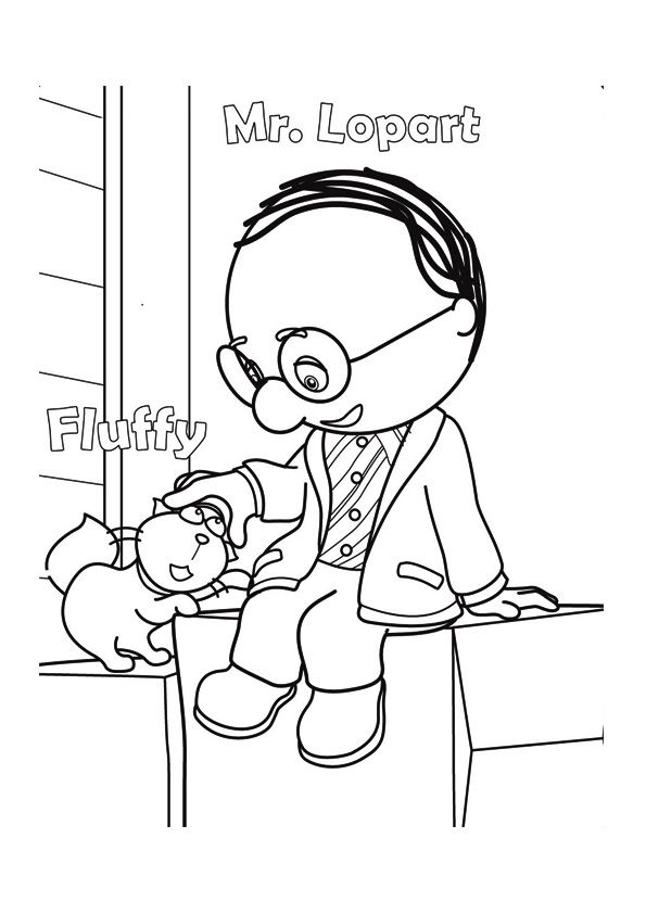 The mr lopart coloring pages