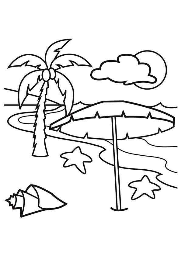 Hawaiian Beach coloring pages