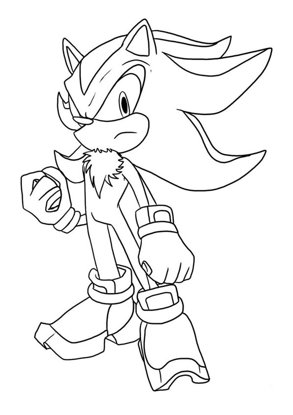 The Shadow The Hedgehog coloring pages