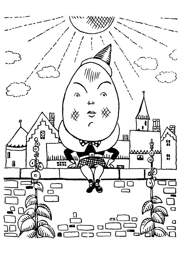 Elizabethan Age Humpty Dumpty coloring pages