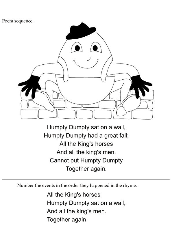 Humpty Dumpty Full coloring pages