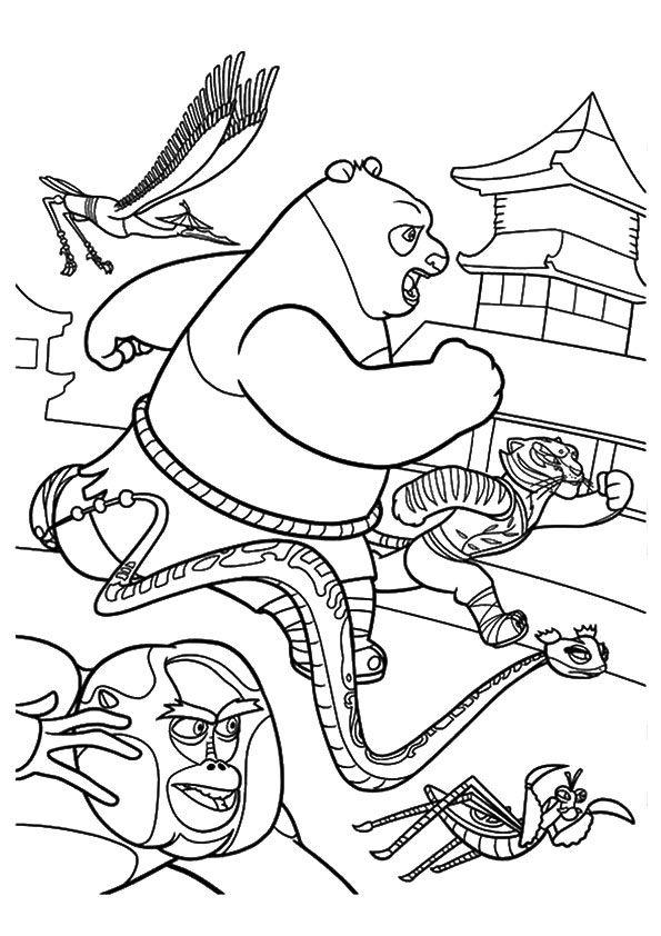 Chineese Kung Fu Panda  coloring pages