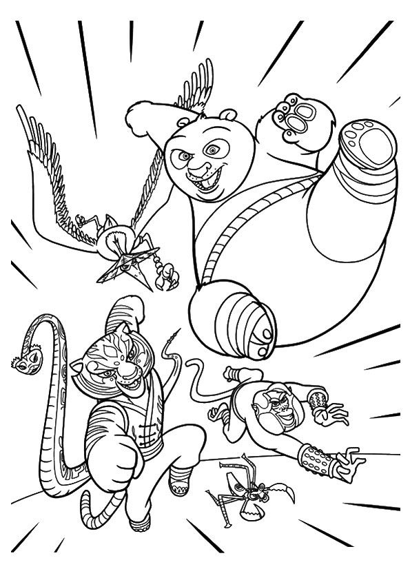 Kung Fu Poses coloring pages