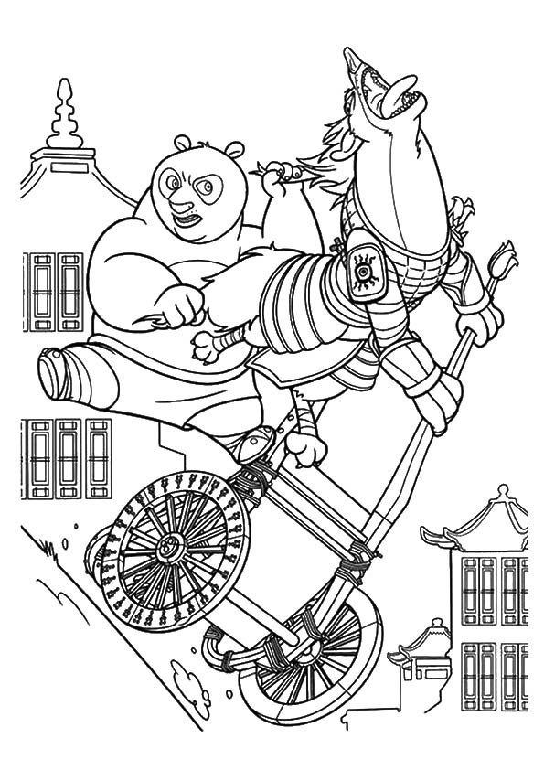 Scary Kung fu Panda coloring pages