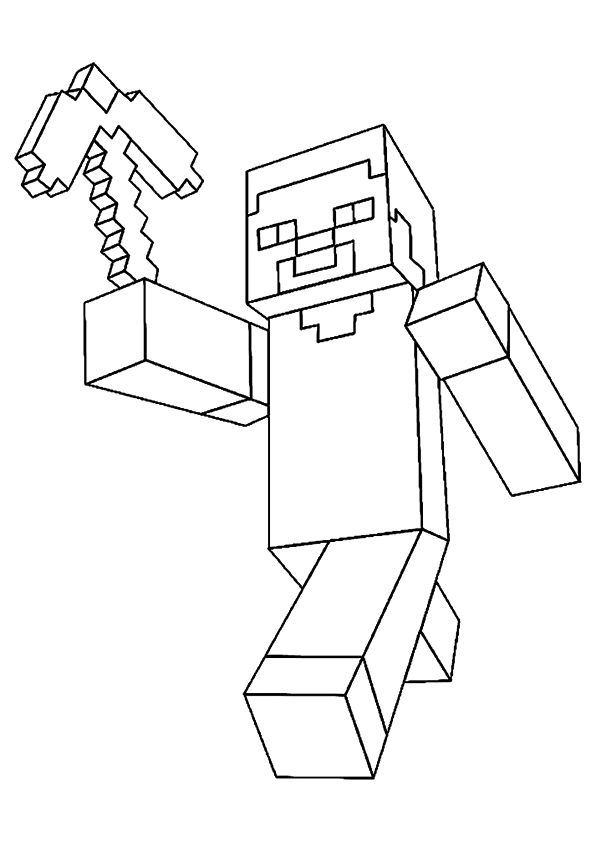 Minecraft coloring pages | 842x595