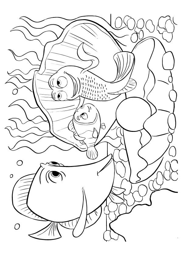 Cute Finding Nemo Coloring fish coloring pages