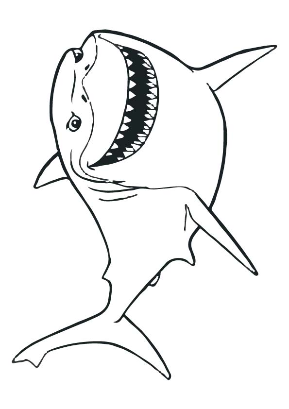 Disney Bruce fish coloring pages