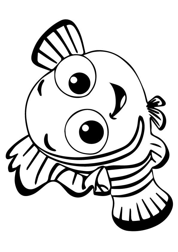 Nemo Happy coloring pages