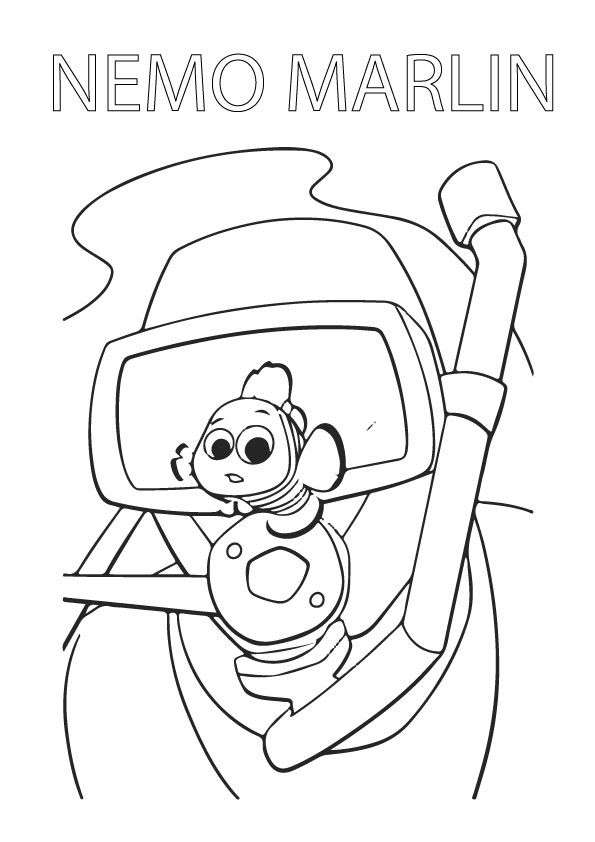 Nemo Marlin coloring pages