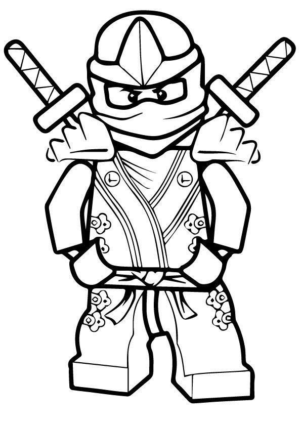 Green Ninja Lloyd coloring pages