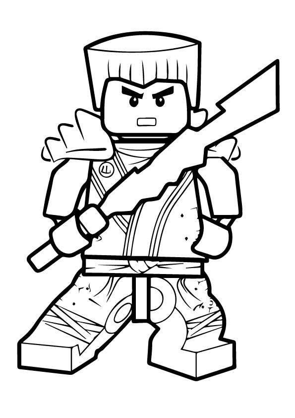 Ninjago Zane coloring pages