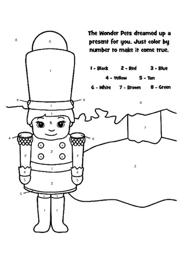 The color by number coloring pages