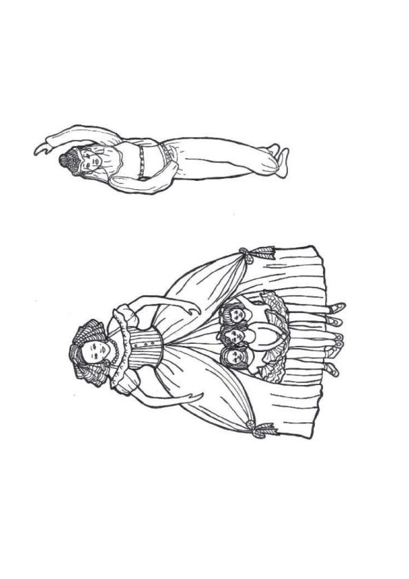 The nutcracker puppets coloring pages