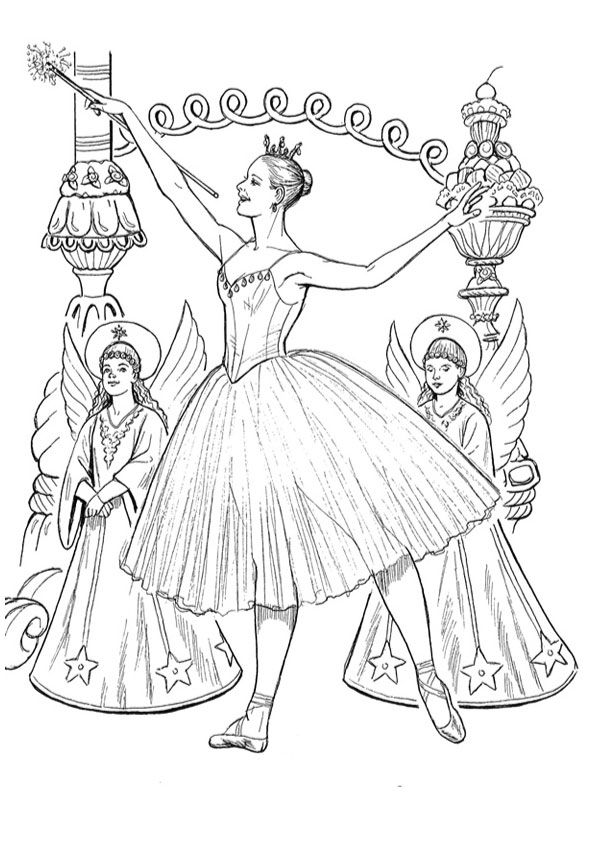 nutcracker ballet coloring pages coloring pages