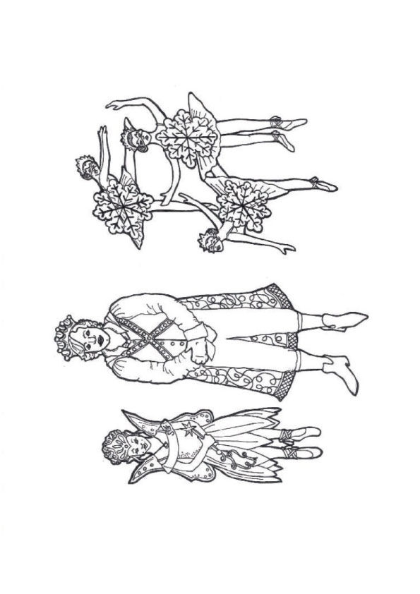 nutcracker ballet colouring pages