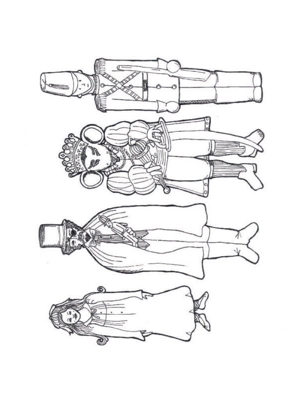 nutcracker puppets coloring pages