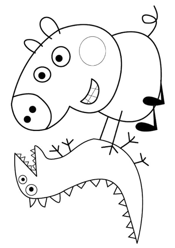 Peppa Pig & Alexander coloring pages