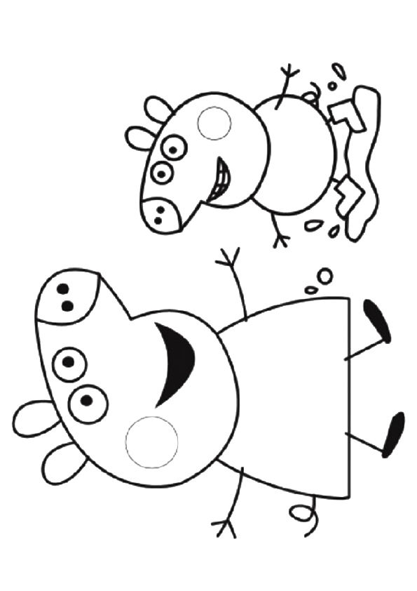Jase Pig coloring pages