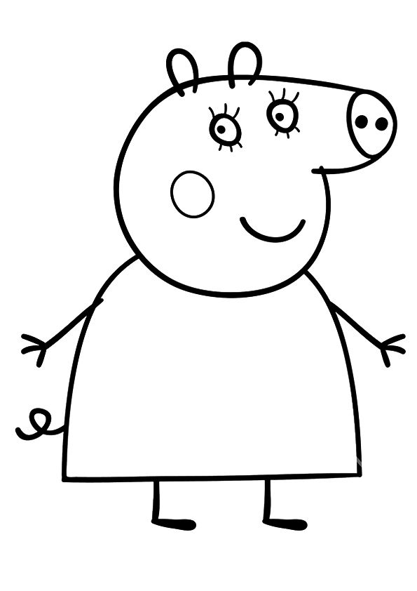 Mummy Peppa Pig coloring pages