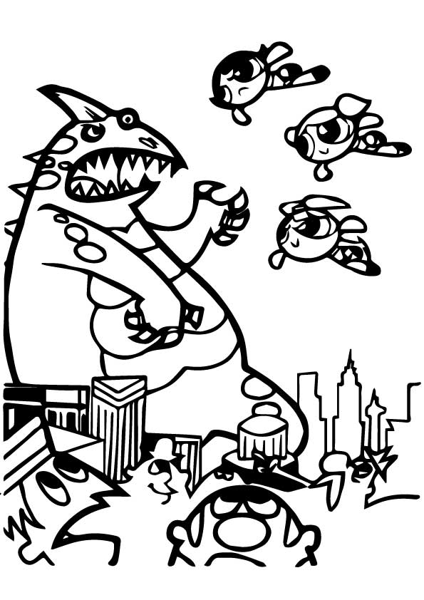 The Attacking the Monster coloring pages