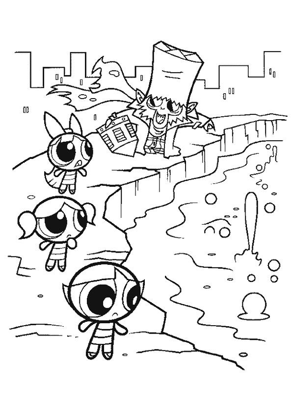 The Powerpuff Solve color coloring pages