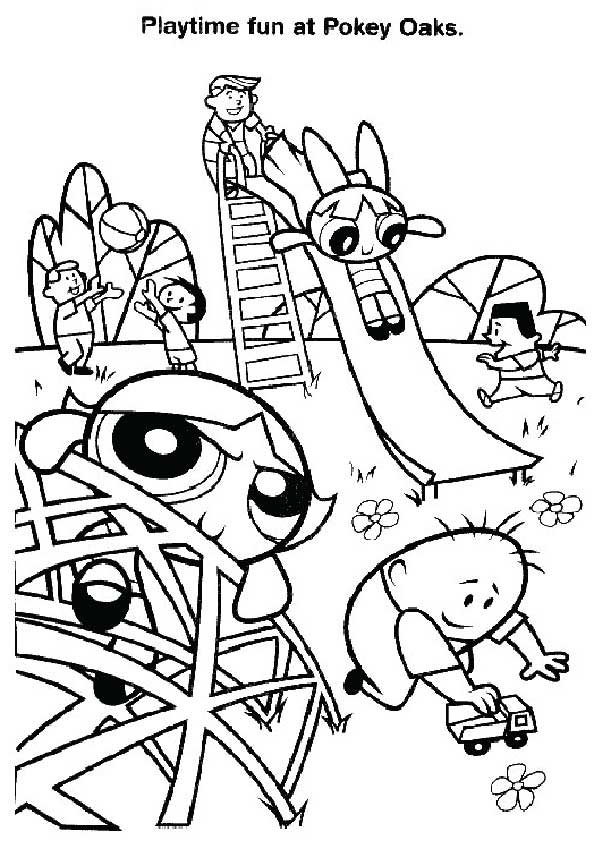 The Powerpuff girls at Play coloring pages