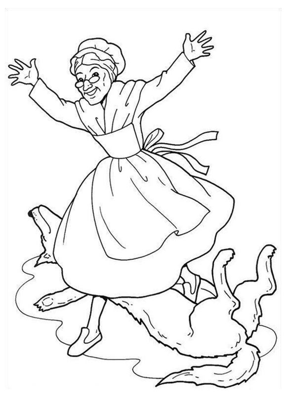 The Grandma coloring pages