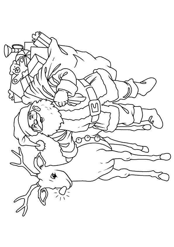 Santa-clause coloring pages