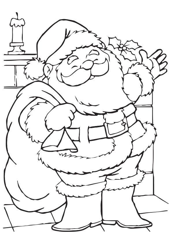 Jolly Santa coloring pages