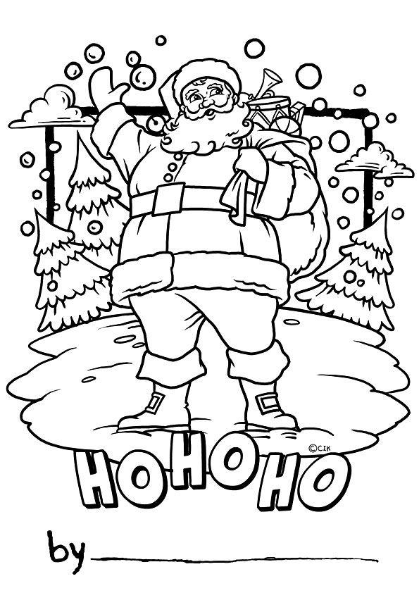 Santa Greeting Card coloring pages