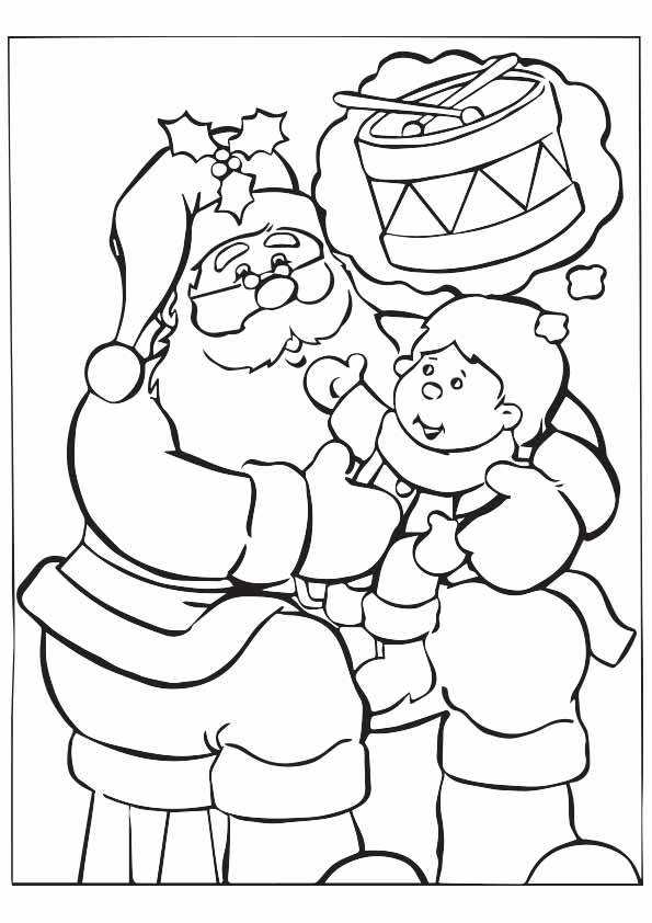Santa With Kids coloring pages