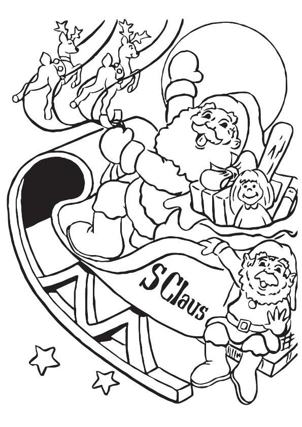 Santa & Buddies coloring pages