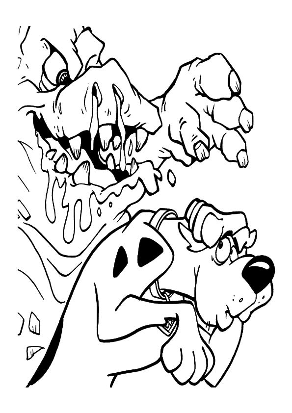 Mud Monster coloring pages