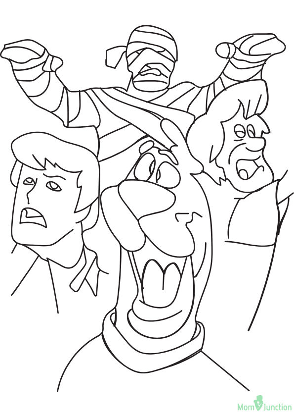 Scooby Mummy 16 coloring pages