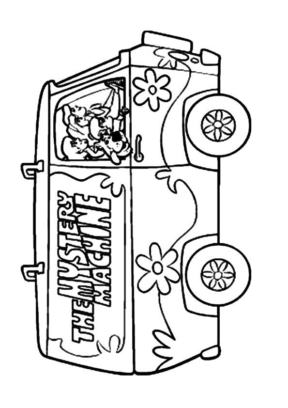 Scooby Mystery Machine coloring pages
