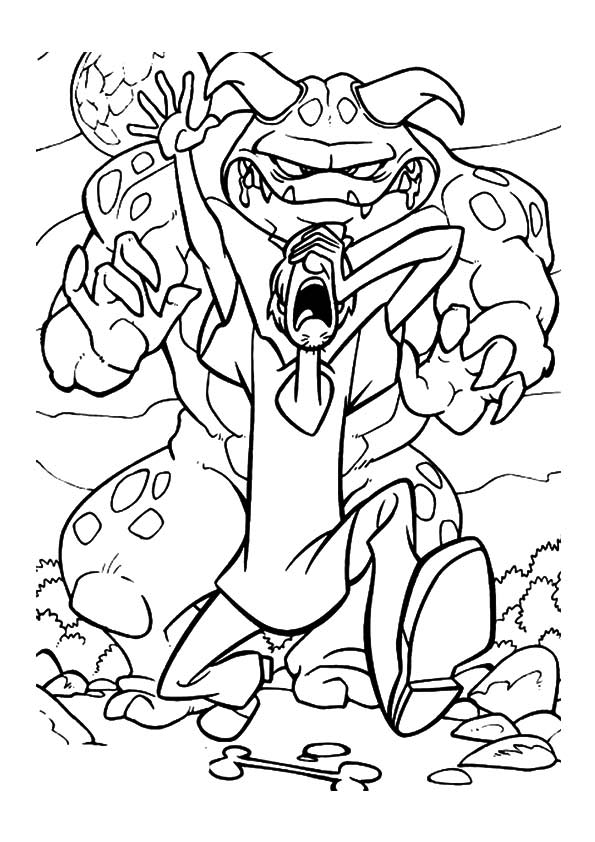 Scooby Shaggy Chased coloring pages