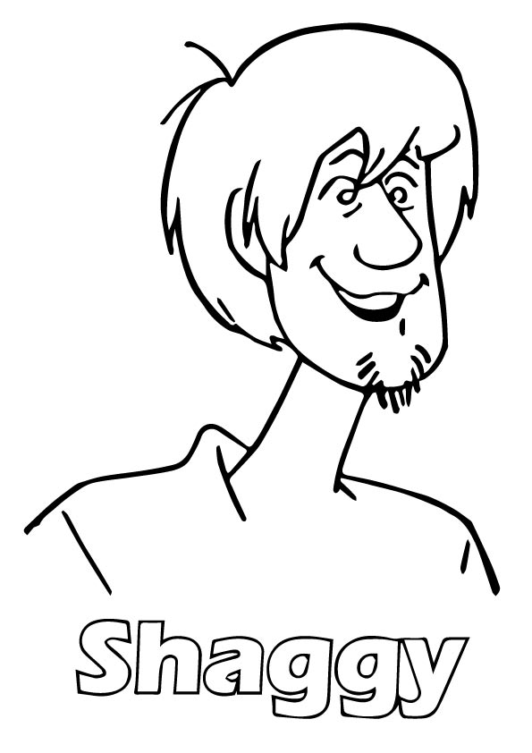 Scooby Shaggy coloring pages