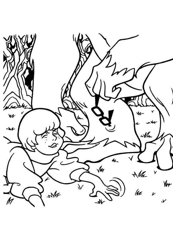 Scooby Velma Loses coloring pages