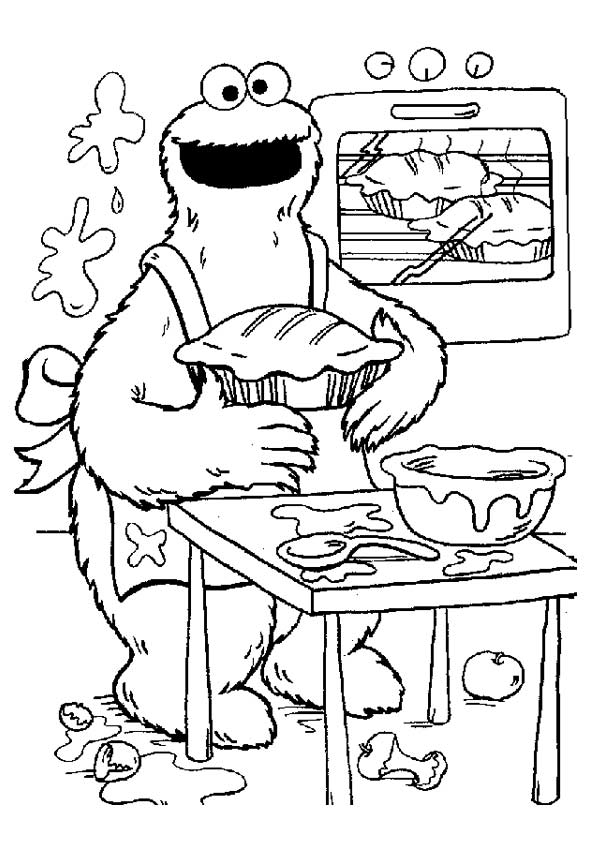 Alistair Cookie Chef coloring pages