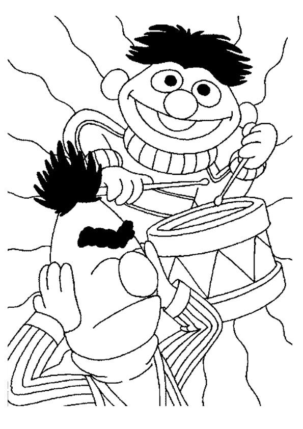 Muppet Playing Drum coloring pages