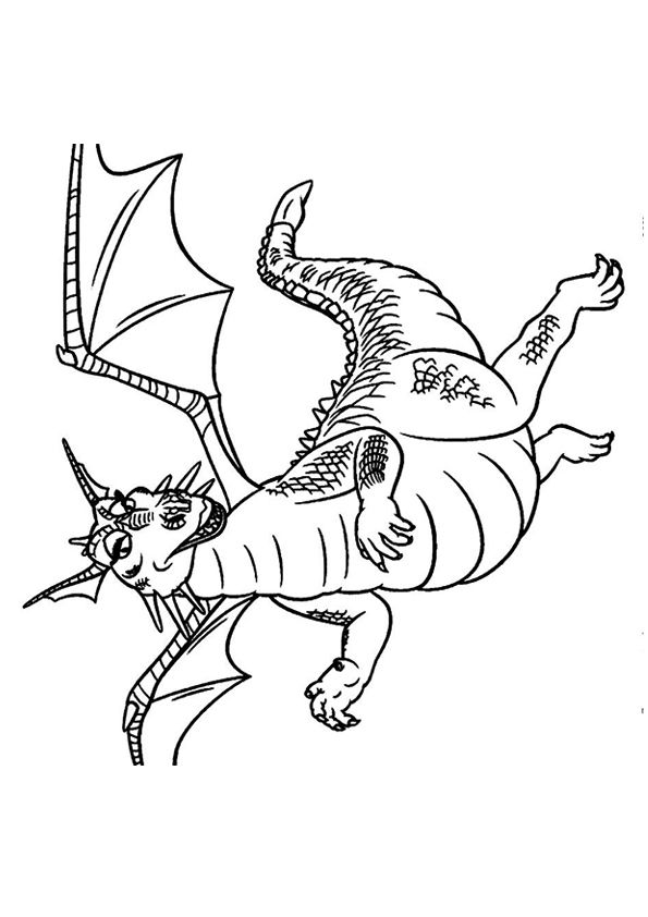 Dragon 2 coloring pages