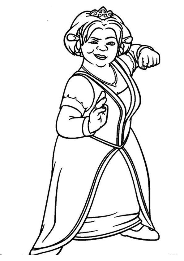 Privncess fiona coloring pages