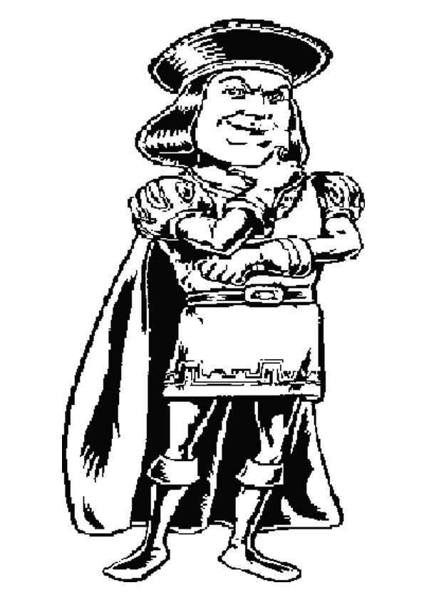 The lord farquaad coloring pages