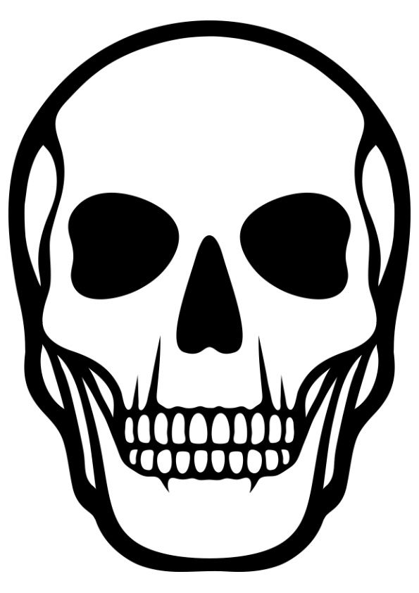 Human Skull Skeleton coloring pages