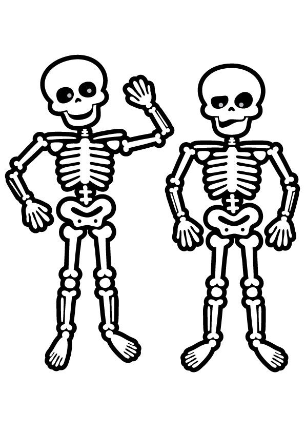 Printable Skeleton Coloring Page for Kids | Free halloween ... | 842x595