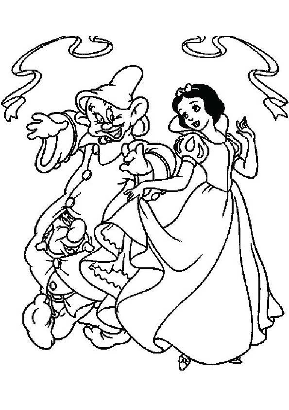 The Dancing with Dwarfs coloring pages