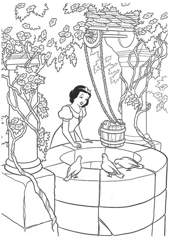 The Singing bythe Well coloring pages