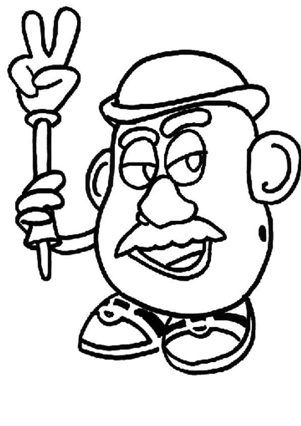 Potatohead coloring pages